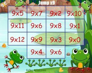Multiplication Game - Nine Times Tables