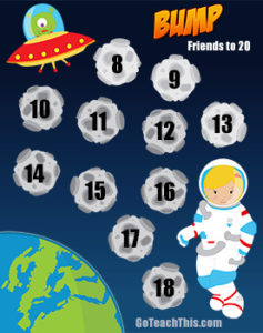 Math Game - Friends to 20