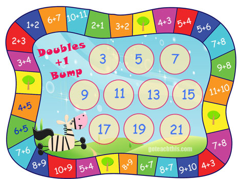 Addition Game Doubles Plus