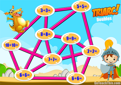 Addition Practice Game Triarc