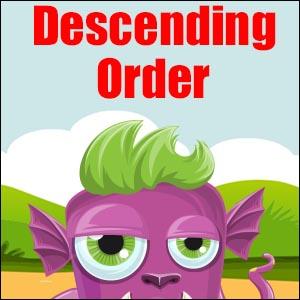Descending Order Poster