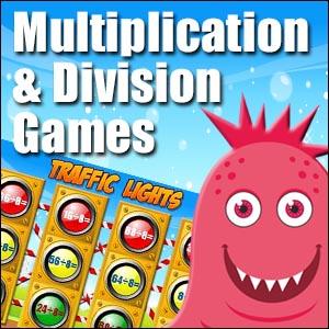 Division & Multiplication Game - Traffic Lights