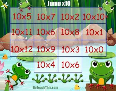 Multiplication Game - Jump - x10