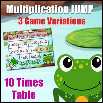 Multiplication Game -Jump-x10 - Variations