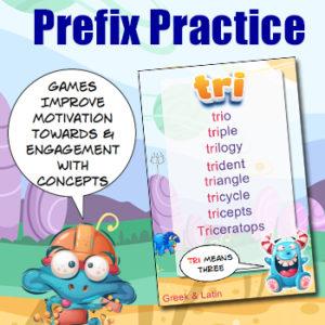 Prefix Practice Card Game