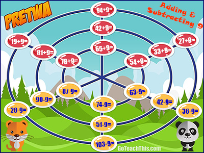 Addition & Subtraction Strategy Game - Pretwa