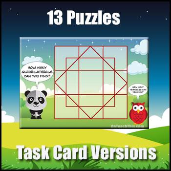 Problem Solving - Puzzle Task Cards