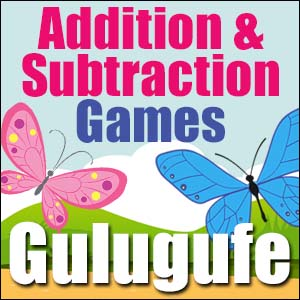 Addition & Subtraction Game - Butterfly