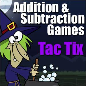 Addition Subtraction Game - Halloween Tac Tix