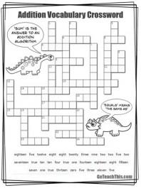 Addition Crossword Puzzle