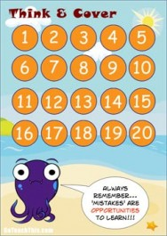 Think & Cover - A Game of Strategy, Addition & Subtraction Facts Below 20