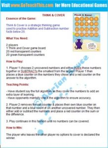 Subtraction Game - Teaching Tips