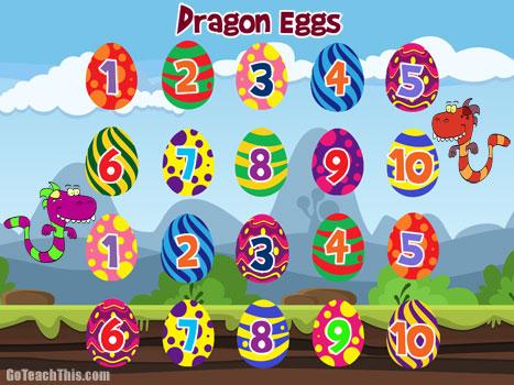 Addition Game - Dragon Eggs