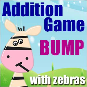 Addition Game - Zebra Bump