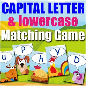 Capital Lowercase Matching Game