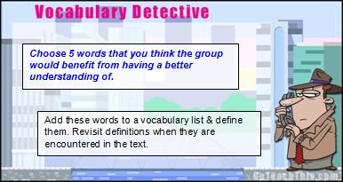 Vocabulary Building - Strategy Cards