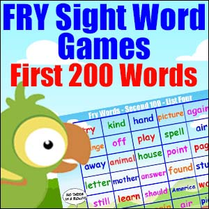 Fry List - First 200 Words