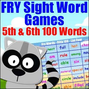 Fry List Sight Word Games