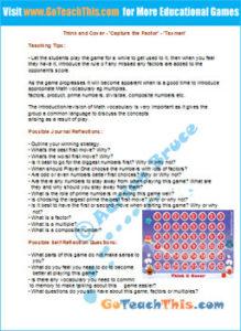 Factor Game Teaching Notes