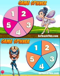 FREE Electronic & Printable Game Spinner