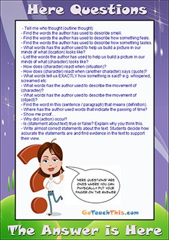 Reading Comprehension Strategy - 'Here' question stems