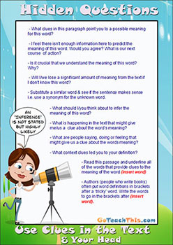 3H Reading Strategy - Hidden Question Stems
