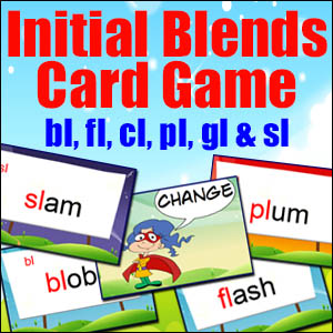 Initial Blend Card Game - Change - bl.fl,cl,pl,gl & sl