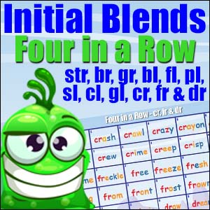 Initial Blends Four in a Row Game