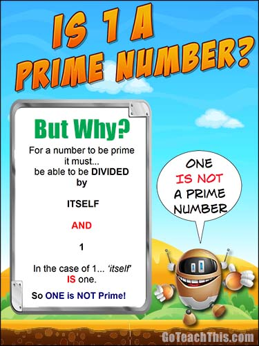 is 1 prime