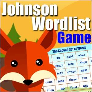 Sight Word Game - Johnson List