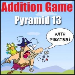Addition Card Game - Pyramid 13
