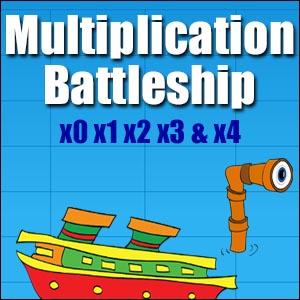 multiplication battleship game
