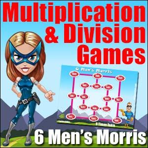 Multiplication & Division Game - 6 Men's Morris