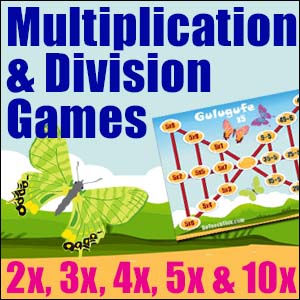 Multiplication & Division Game - Butterfly