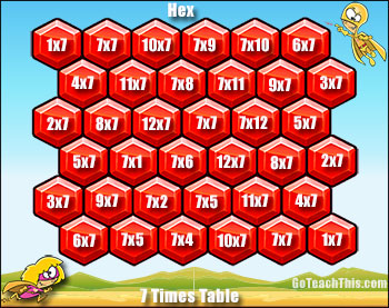 Multiplication Game - Hex