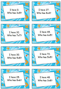 Multiplication Game - I Have… Who Has…? – Facts All Mixed Up