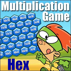 Multiplication Game - Hex - 6x6 Game Board