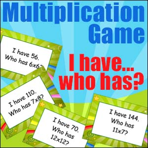 Multiplication Game - I have Who Has?