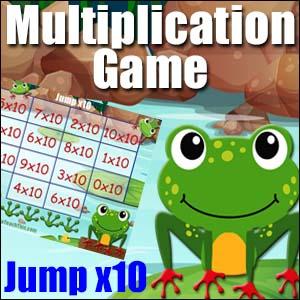 Multiplication Game -Jump x10