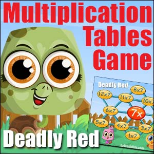 Multiplication Game - Deadly Red