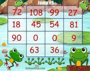 Nine Times Table Game