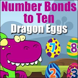 Number Bonds to Ten - Dragon Eggs