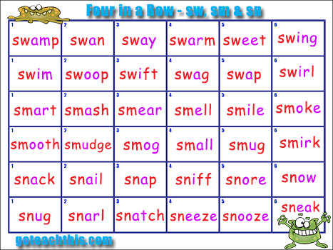 phonics game initial blends