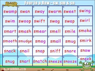 Initial Blends Game - sw, sm, sn, wr, sp & spr