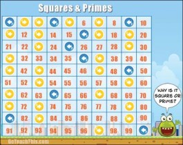 Prime Number & Square Number Game