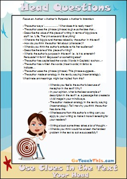 Reading Comprehension - Head Questions