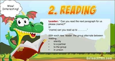 Reciprocal Reading - Step Two - Reading the Text