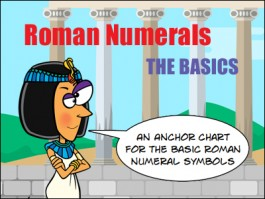 roman numbers anchor chart