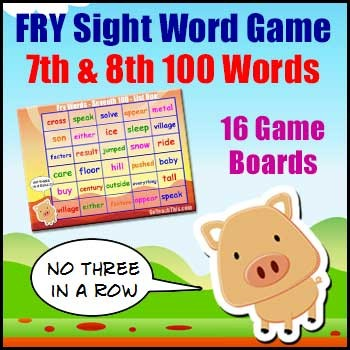 Sight Word Games - Fry Lists