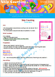 Skip Counting Game Rules
